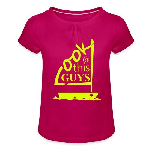 Look At This Guys ! - Meisjes-T-shirt met plooien