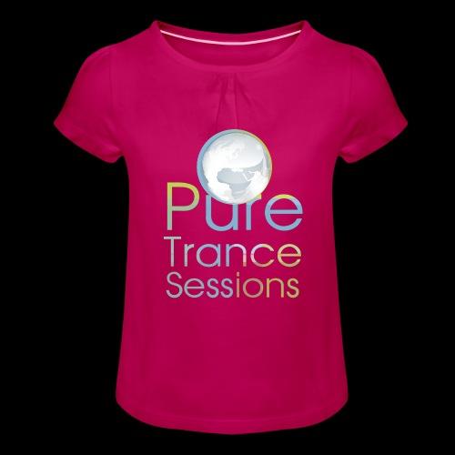 PTS logo new15 beeldmerkS png - Girl's T-Shirt with Ruffles