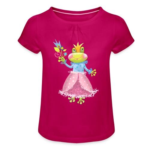 Prinzessin Frosch - Mädchen-T-Shirt mit Raffungen