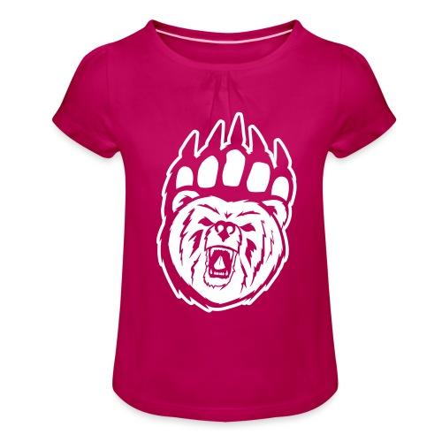 Herr T-shirt - T-shirt med rynkning flicka