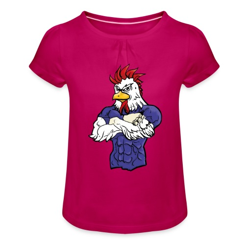l'equipe - Girl's T-Shirt with Ruffles