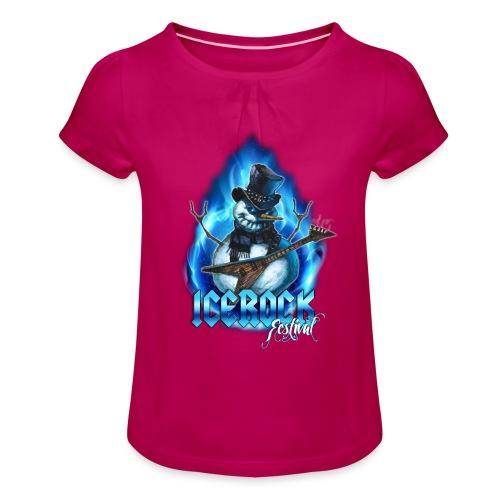 Snowman Evil - Mädchen-T-Shirt mit Raffungen