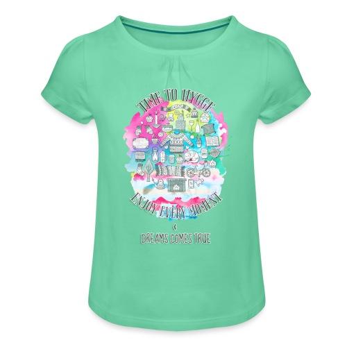Time to Hygge - T-shirt à fronces au col Fille