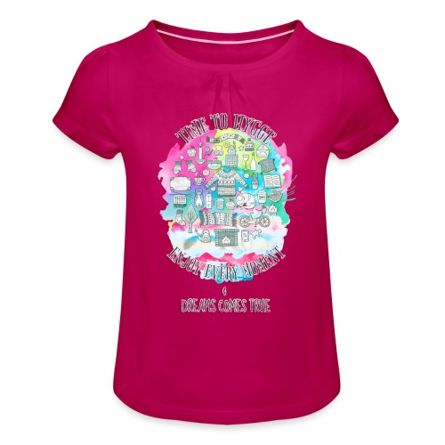 Time to Hygge - T-shirt à fronces au col Fille
