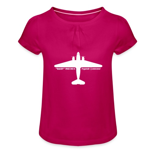 Daisy Silhouette Top 2 - T-shirt med rynkning flicka