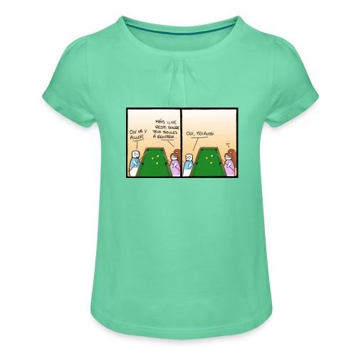 billard - T-shirt à fronces au col Fille