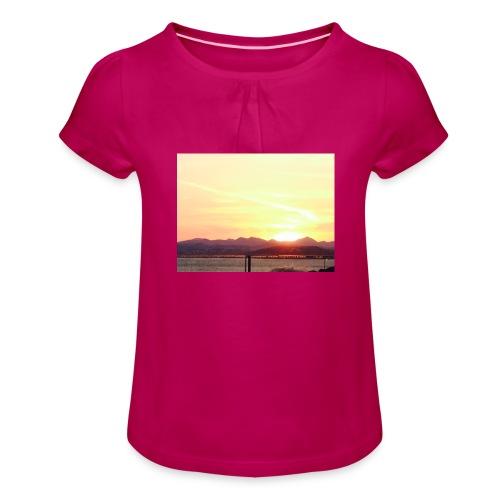 IMG 0709 - Pige T-shirt med flæser