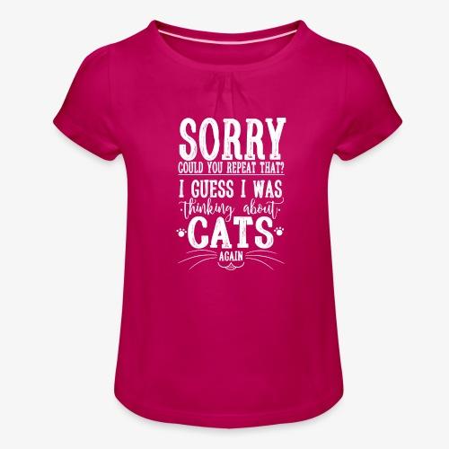 Sorry Cats II - Tyttöjen t-paita, jossa rypytyksiä