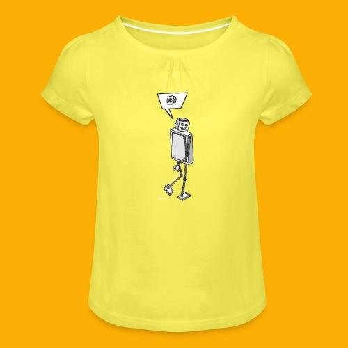 Dat Robot: Nerd Flirt Woman - Meisjes-T-shirt met plooien