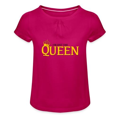 I'm just the Queen - T-shirt à fronces au col Fille