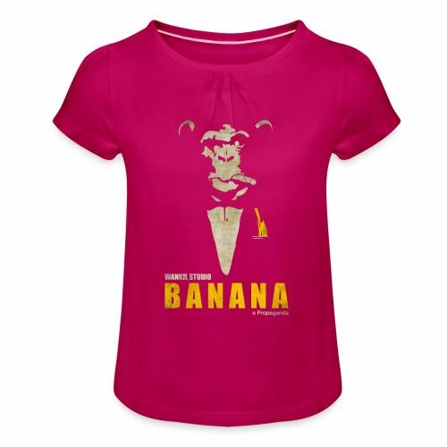 A Propaganda (transparent) - T-shirt à fronces au col Fille
