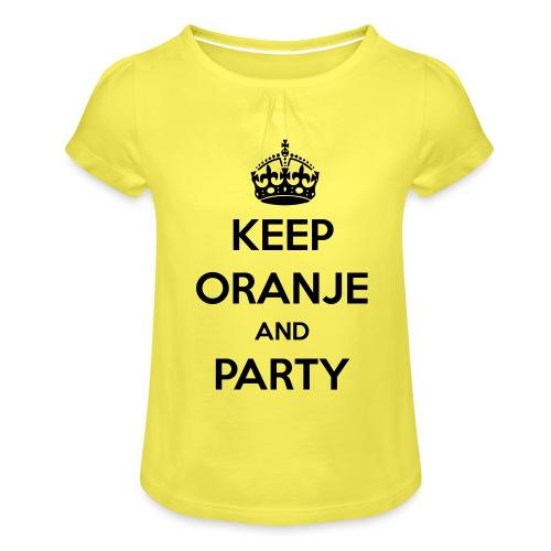 KEEP ORANJE AND PARTY - Meisjes-T-shirt met plooien