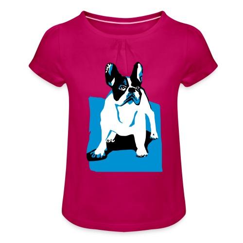 franz bulldog - Mädchen-T-Shirt mit Raffungen