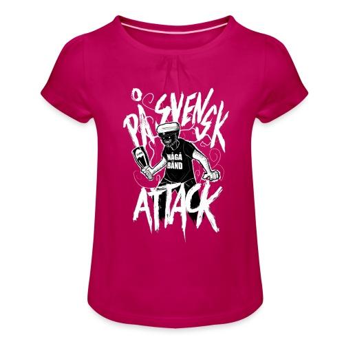 På Svenska Tack - Girl's T-Shirt with Ruffles