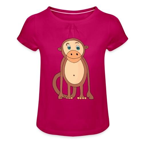 Bobo le singe - T-shirt à fronces au col Fille