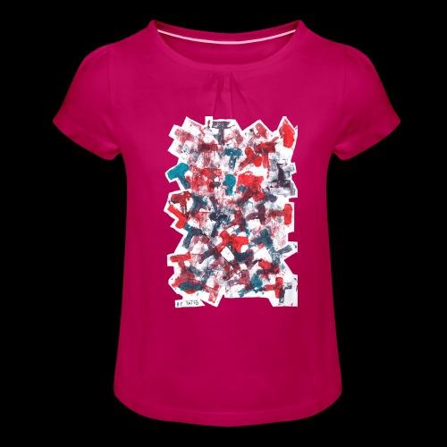 Color T BY TAiTO - Tyttöjen t-paita, jossa rypytyksiä