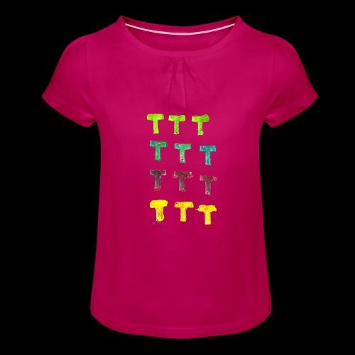 Original Color T BY TAiTO - Tyttöjen t-paita, jossa rypytyksiä