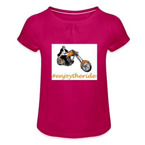 enjoytheride - T-shirt à fronces au col Fille