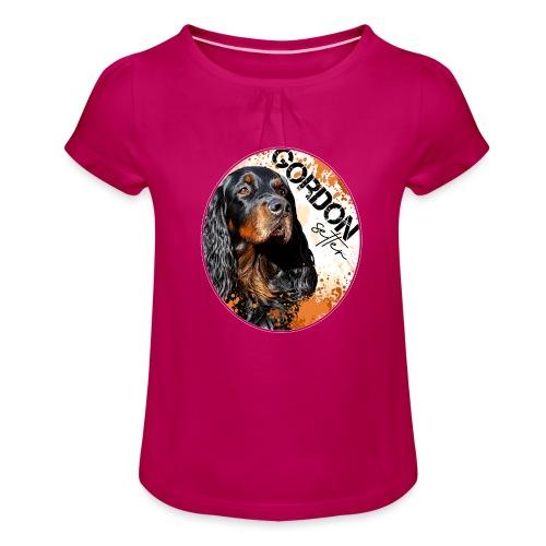 Gordon Setter Splash - Tyttöjen t-paita, jossa rypytyksiä