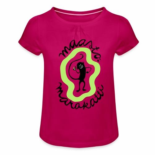 Maastomarakatti - Tyttöjen t-paita, jossa rypytyksiä