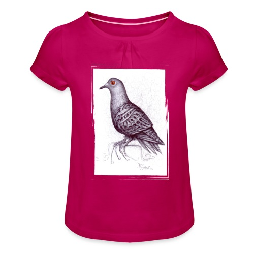 Piccione Penna Bic - Maglietta da ragazza con arricciatura
