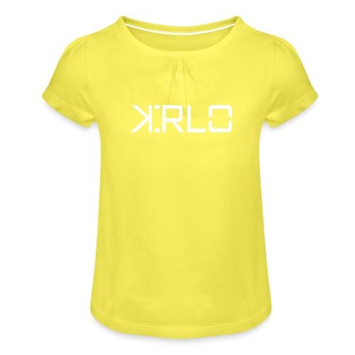 Kirlo Logo Blanco - Camiseta para niña con drapeado