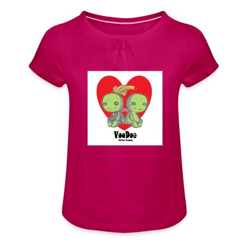 bhnvdloove-png - Camiseta para niña con drapeado