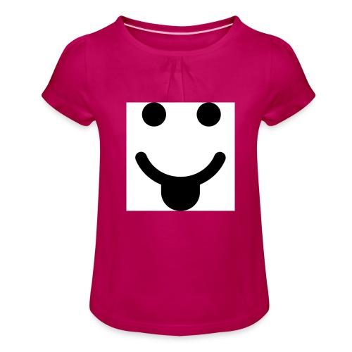 smlydesign jpg - Meisjes-T-shirt met plooien