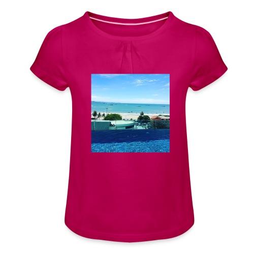 Thailand pattaya - Pige T-shirt med flæser