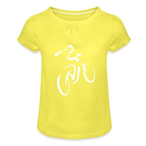Fahrrad Fahrradfahren Fahrer Rad Fahrradfahrer - Mädchen-T-Shirt mit Raffungen
