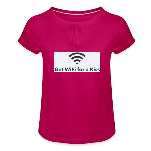 236BF4BD 7989 4C03 89F9 B9BA602E6B65 - Mädchen-T-Shirt mit Raffungen