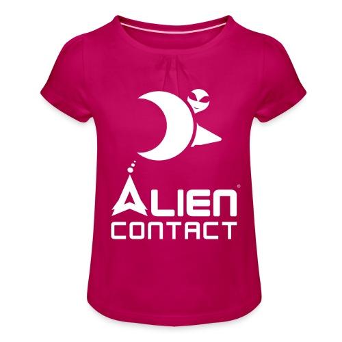 Alien Contact - Maglietta da ragazza con arricciatura