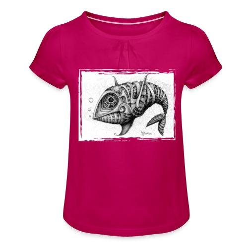 Pesce & Fish - Maglietta da ragazza con arricciatura