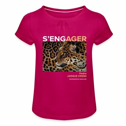 1 Achat = 1 Don à l'association Rainfer - T-shirt à fronces au col Fille