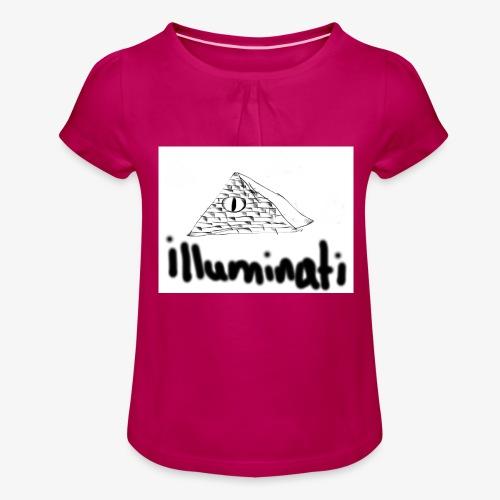 illuminati - Girl's T-Shirt with Ruffles