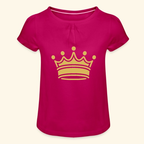 crown - Girl's T-Shirt with Ruffles