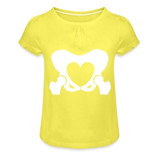 Love Your Hips Logo - Girl's T-Shirt with Ruffles