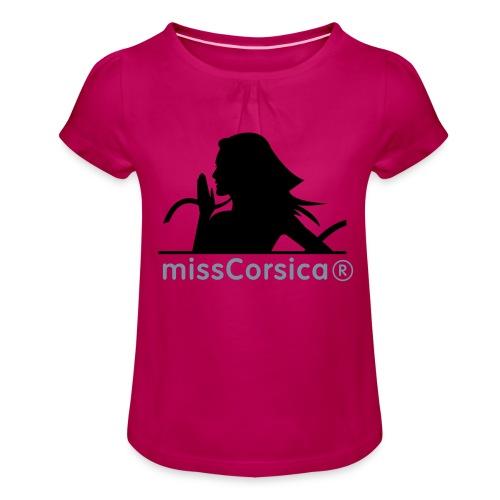 missCorsica 2B - T-shirt à fronces au col Fille