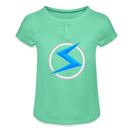 #1 model - Meisjes-T-shirt met plooien