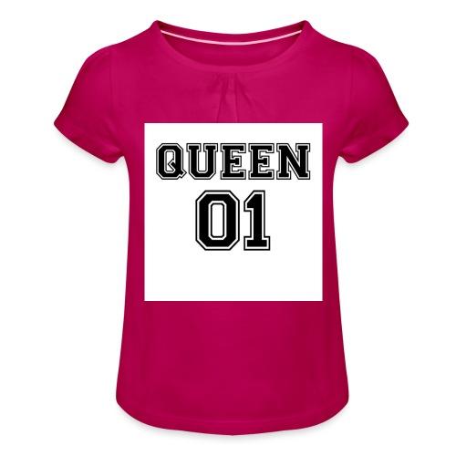 Queen 01 - T-shirt à fronces au col Fille