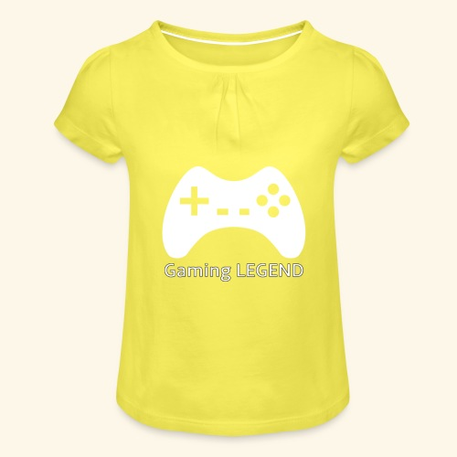 Gaming LEGEND - Meisjes-T-shirt met plooien