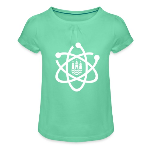 March for Science København logo - Girl's T-Shirt with Ruffles