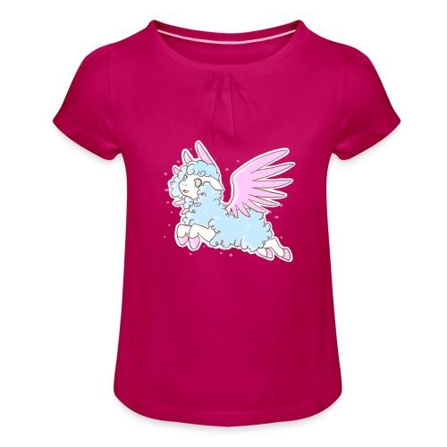 Kawaii Mouton des rêves - T-shirt à fronces au col Fille