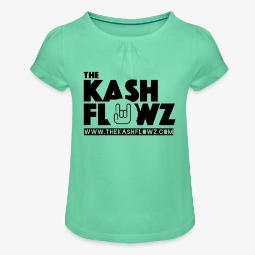 The Kash Flowz Official Web Site Black - T-shirt à fronces au col Fille