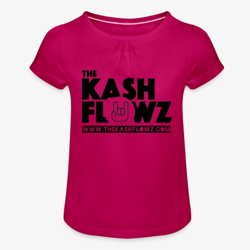 The Kash Flowz Official Web Site Black - T-shirt à fronces au col Fille