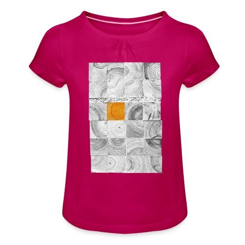 Cubes de Bois - T-shirt à fronces au col Fille
