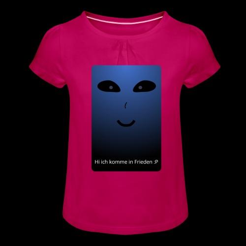 Frieden - Mädchen-T-Shirt mit Raffungen