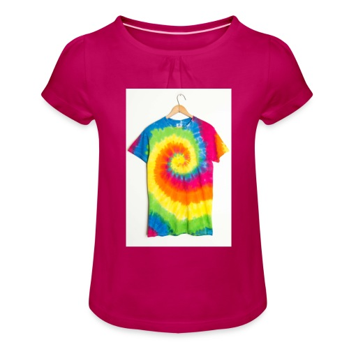 tie die small merch - Girl's T-Shirt with Ruffles
