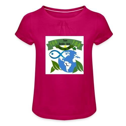 logo dumble baits - T-shirt à fronces au col Fille