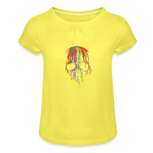 Skull and Colours - Camiseta para niña con drapeado